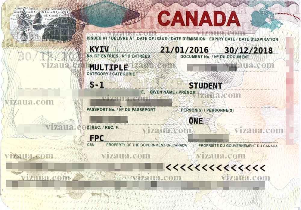 Анкета в канаду на визу